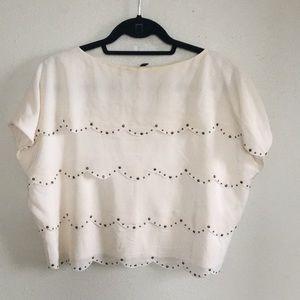 BCBG Max Azria box layered blouse